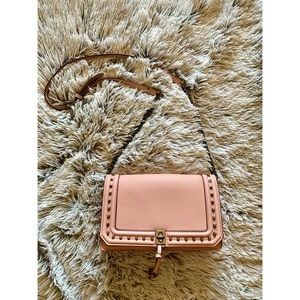 Pink Crossbody Studded Purse